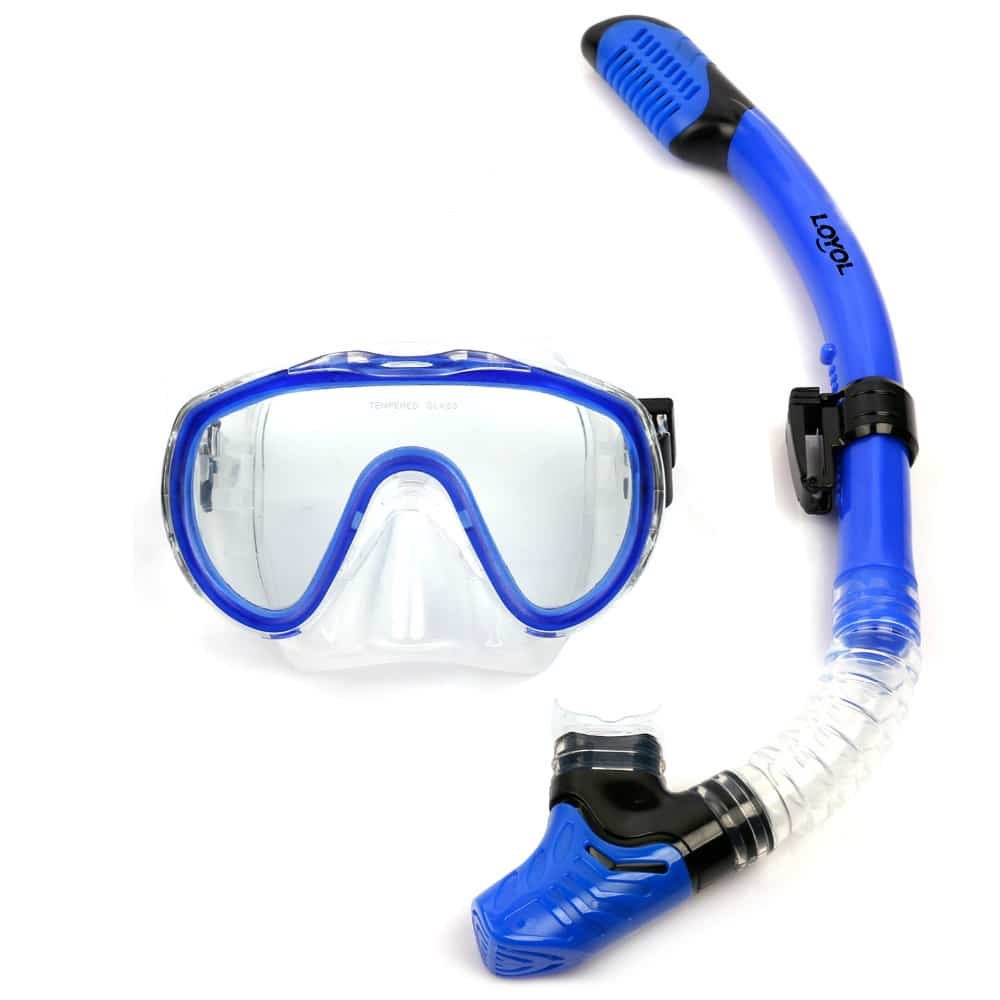 Professional Snorkel Amp Antifog Scuba Diving Mask